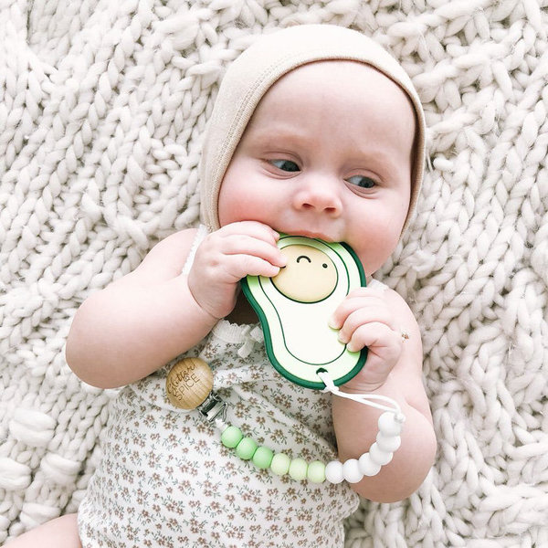 View larger image of Avacado Teether - Dark Green