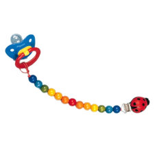 Colourful Wooden Pacifier Chain Clip