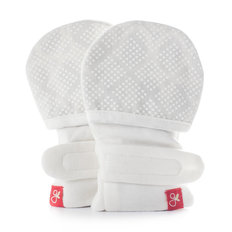 Diamond Dots Mitts - Cream 0-3M