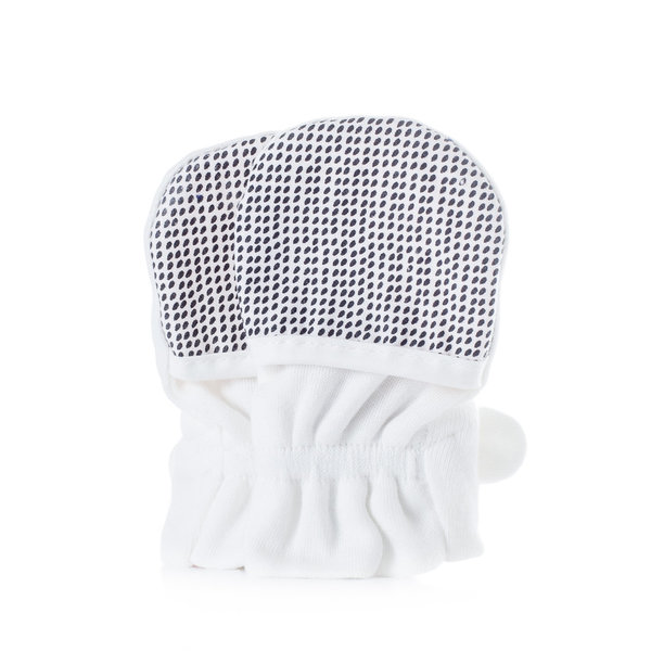 View larger image of Diamond Dots Mitts - Cream 0-3M