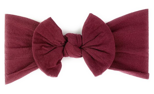 View larger image of Headband Bow-Burgundy