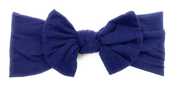 View larger image of Nylon Bow Headband - Navy