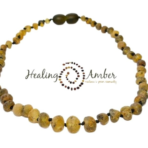 View larger image of 11 inch Raw Amber Necklace