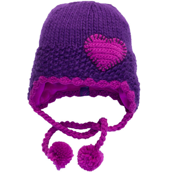 View larger image of Heart Ski Hat-Iris-M