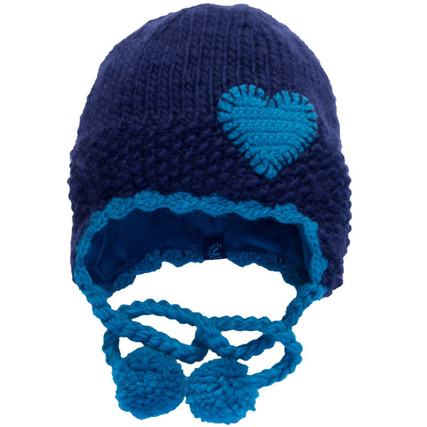 View larger image of Heart Ski Hat-Navy-L