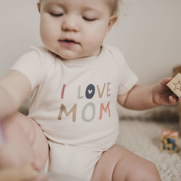 View larger image of I Love Mom Organic Onesie