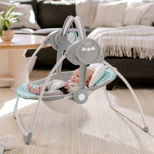 View larger image of Swingity Swing Easy-Fold Portable Swing – Goji