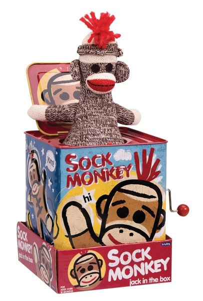 View larger image of Jack in the Box - Sock Monkey