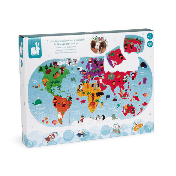 View larger image of Explorers Map Bath Toy