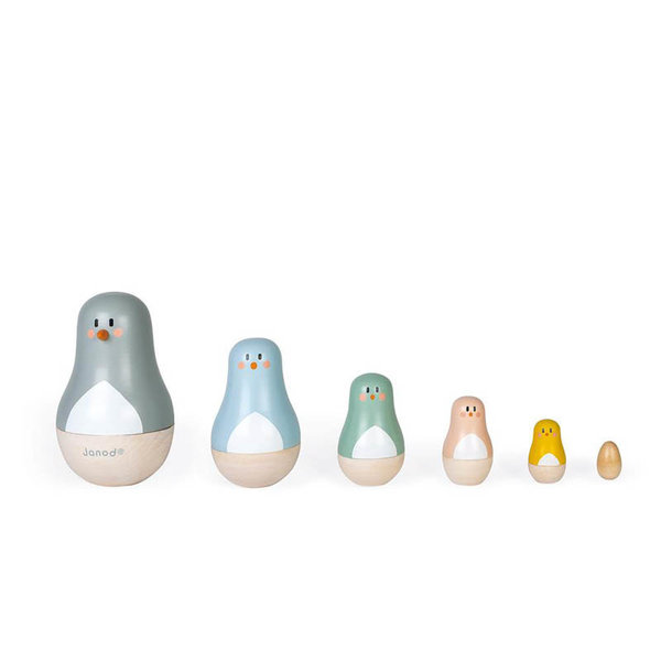 View larger image of Sweet Cocoon Nesting Dolls - Birds