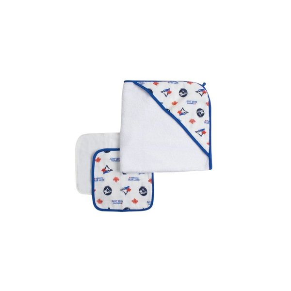 View larger image of Blue Jays Hooded Towel & Washcloth Set