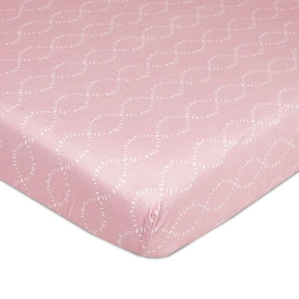 View larger image of Jersey Fitted Sheet - Pink Braids