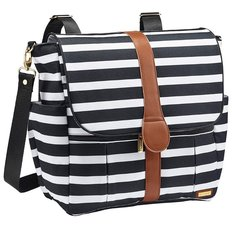 Diaper Bag Backpack - Black & White Stripe