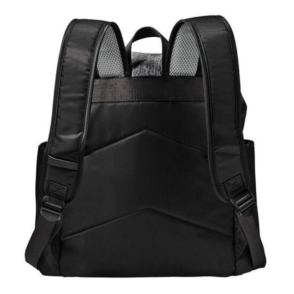 View larger image of Mezona Diaper Bag - Asphalt and Black