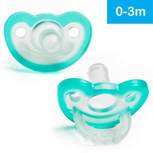 View larger image of JollyPop Pacifier 2 Pack - 0-3+ Months - Teal & Teal