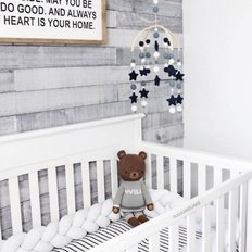 Braided Crib Bumpers - Solid Colours