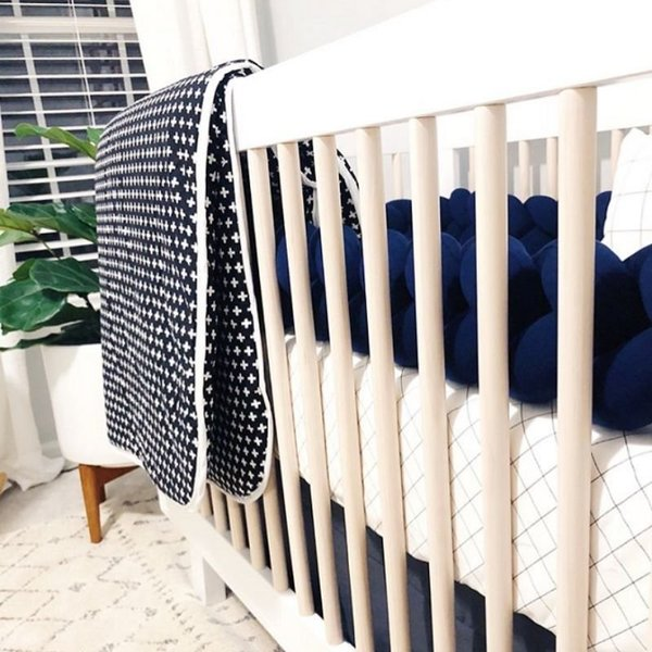 View larger image of Braided Crib Bumpers - Solid Colours