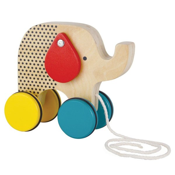 View larger image of Jumping Elephant Pull Toy