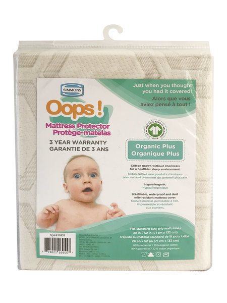 View larger image of Oops Mattress Protector - Organic Plus