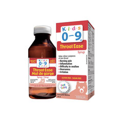 Kids 0-9 Throat Ease Syrup 100mL