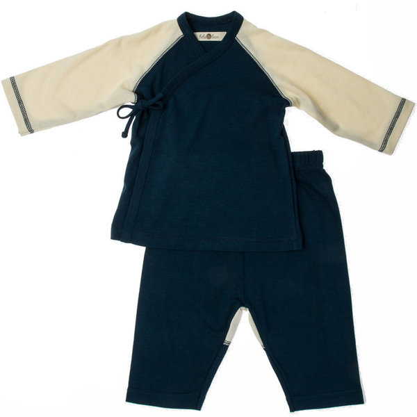 View larger image of Kimono Top/Pant 3-6M-Navy