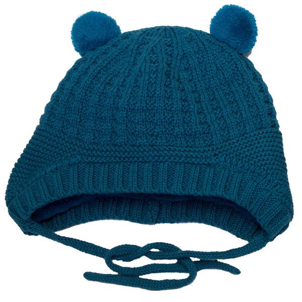 View larger image of Knit Bear Hat - Lagoon