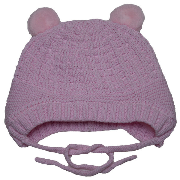 View larger image of Knit Bear Hat-Pink-M