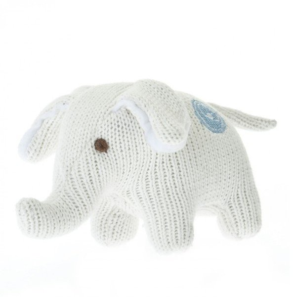 View larger image of Knit Elephant Rattle