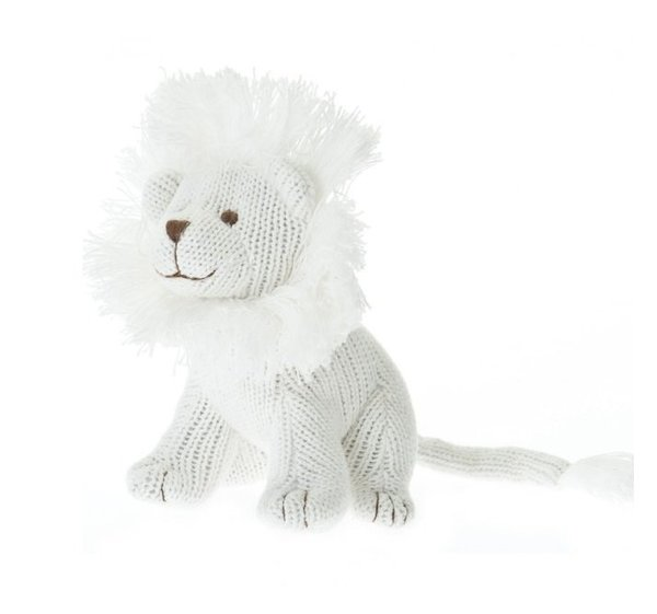 View larger image of Knit Lion Rattle - Ivory