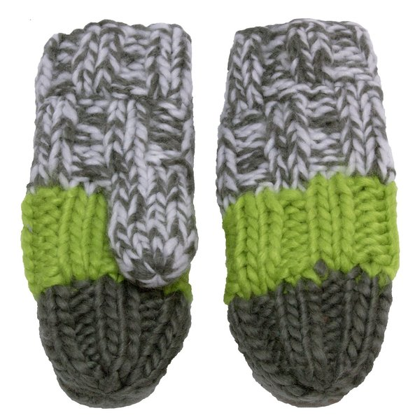 View larger image of Iceland Acrylic Knit Mitt - Green - Small - 18M-3Y