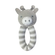 Knit Rattle - Finn Giraffe