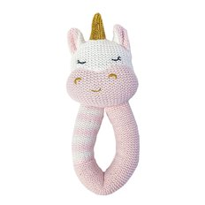 Knit Rattle - Kenzie Unicorn