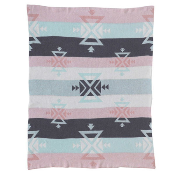 View larger image of Knitted Cotton Blanket-Aztec