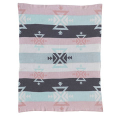 Knitted Cotton Blanket-Aztec