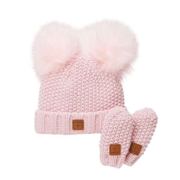 View larger image of Adorable Knit Toque and Mittens Set - Infants
