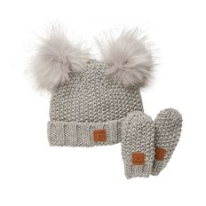 Adorable Knit Toque and Mittens Set - Infants