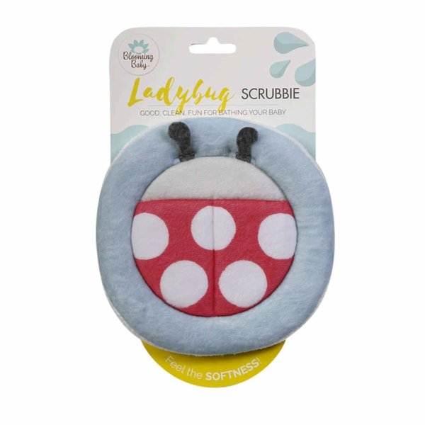 View larger image of Blooming Bath Scrubbie Bath Mitt - Ladybug