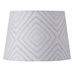 Lamp Shade- Grey Maze