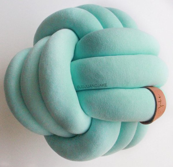 View larger image of Large Knot Pillow - Mint