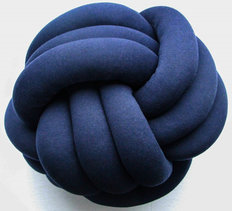 Large Knot Pillow - Navy