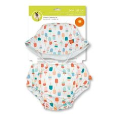 Swim Diaper + Sun Hat Sets - Girls