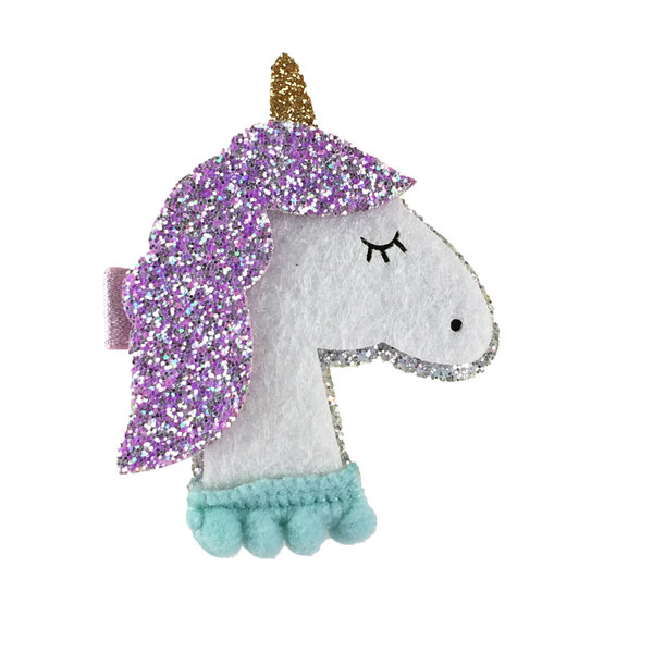 View larger image of Lavender Sparkly Unicorn Clip