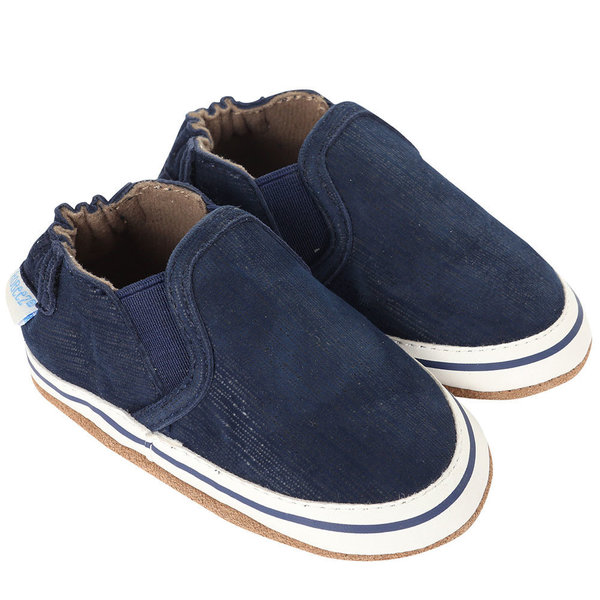View larger image of Liam Soft Sole Shoes - Basic Navy