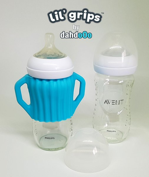 View larger image of Lil' Grips Universal Silicone Handles - Blue