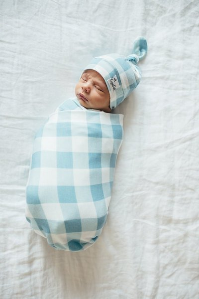 View larger image of Knit Swaddle Blanket - Lincoln