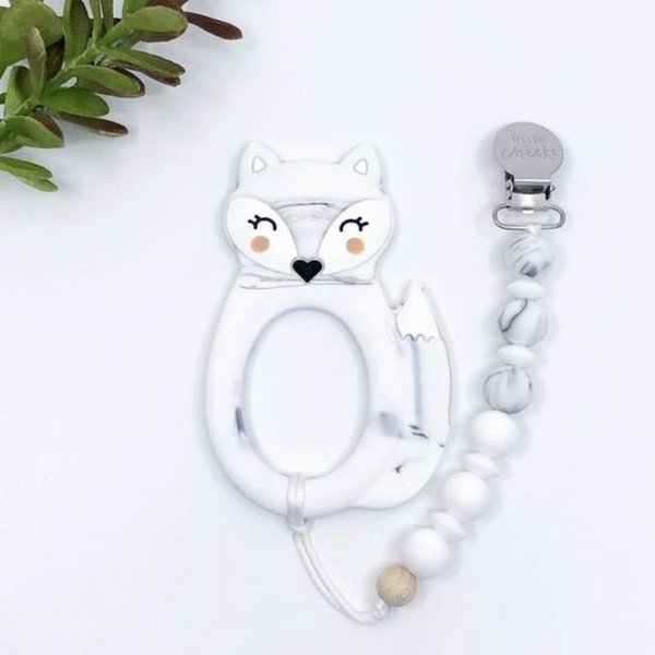 View larger image of Fox Teether and Clip