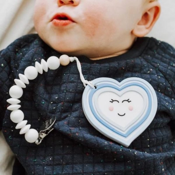 View larger image of Heart Teether & Clip