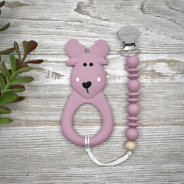 View larger image of Moose Teether & Clip