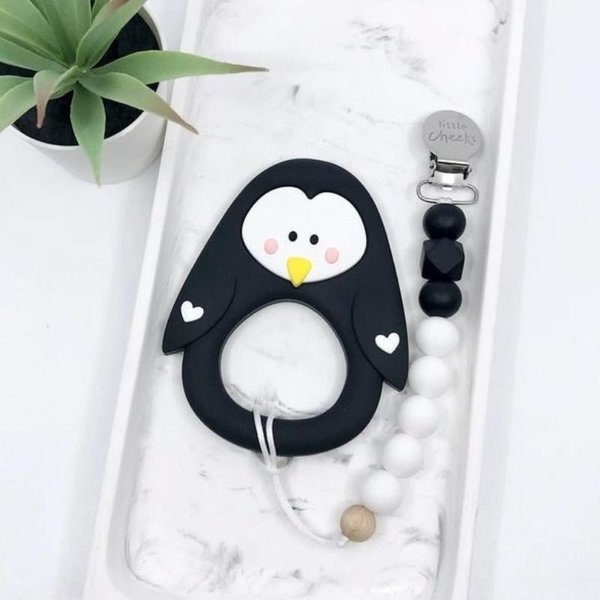View larger image of Penguin Teether & Clip