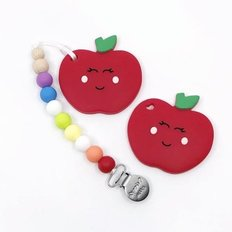 Red Apple Teether & Clip